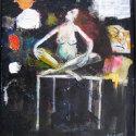 Op tafel 60 x 71cm acryl op paneel