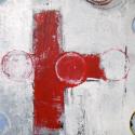 cross 50 x70 acryl/paneel