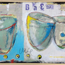3 kommen 41.5 x 73.9 cm acryl/paneel