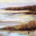 landschap 72 x 35 cm acryl/paneel