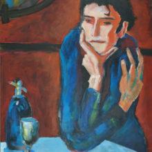 picasso vrouw 50 x 70 cm acryl/paneel