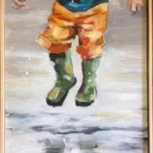 Spring 40 x 50 cm acryl op paneel