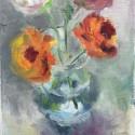 """""""bloemen"""" 18x24cm olieverf/linnen"""