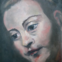 Hendrikje Stoffels 21 x 30 cm olieverf/paneel