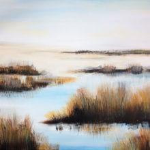 Landschap 80 x 60 cm acryl/doek