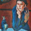 Picasso / vrouw 50 x 70 cm 50x70 acryl/paneel