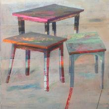 Tafels 82 x 119 cm olieverf/paneel