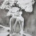 gewassen inkt-bloem